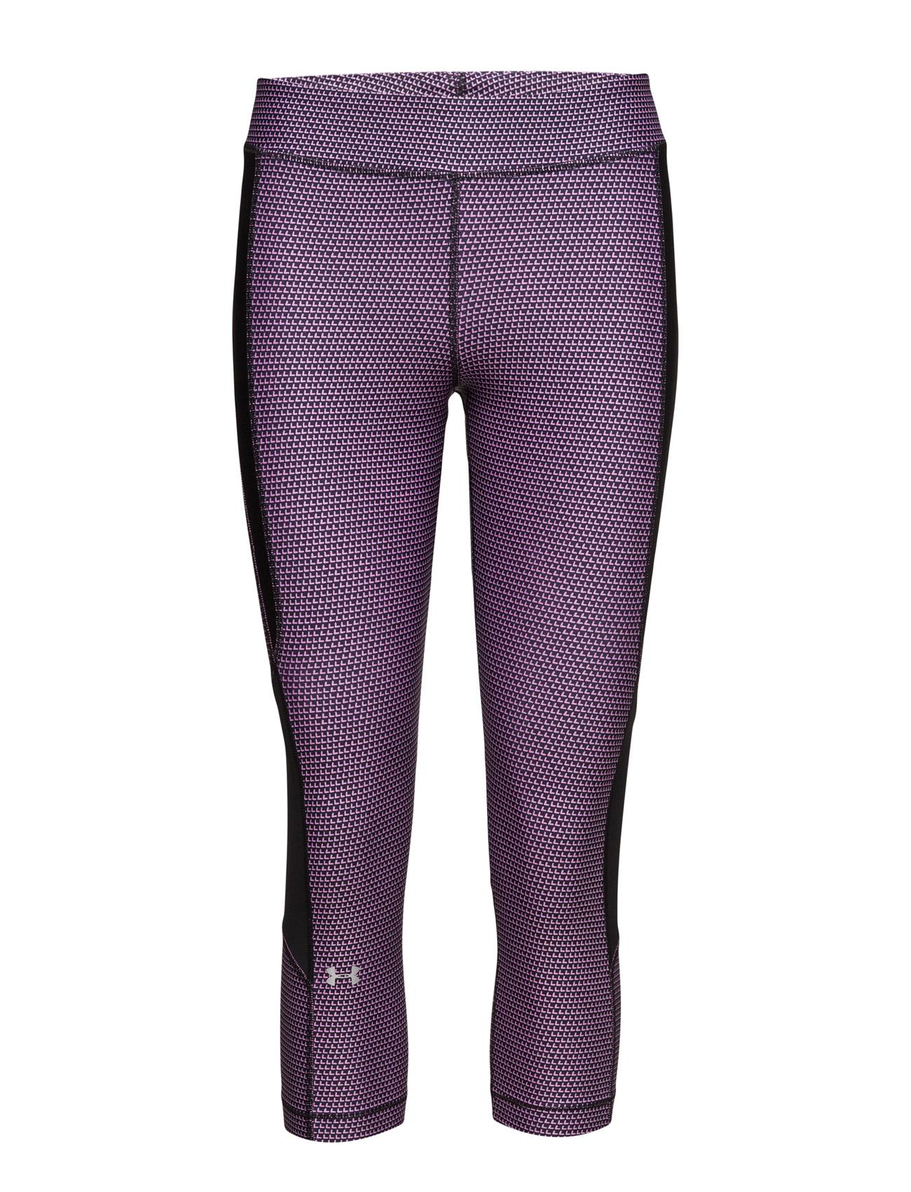 Ua Hg Armour Printed Crop Under Armour Trænings leggings til Kvinder i Sort