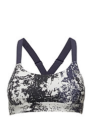 UA ECLIPSE PRINTED BRA - MIDNIGHT NAVY