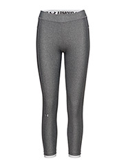 UA HG ARMOUR ANKLE CROP - CARBON HEATHER