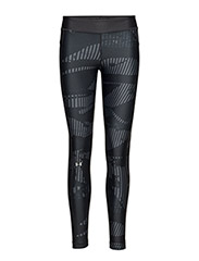 UA HG ARMOUR PRINTED LEGGING - RHINO GRAY