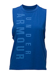 EXPLODED WORDMARK MUSCLE - LAPIS BLUE