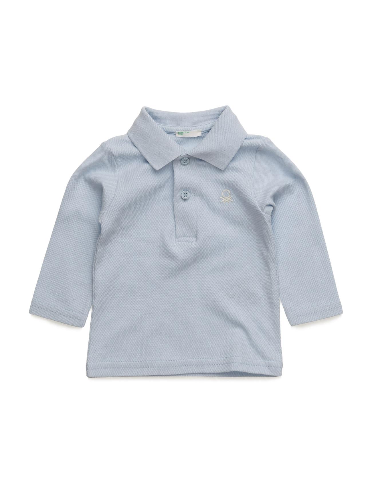 L/S Polo Shirt United Colors of Benetton Langærmede t-shirts til Børn i argil