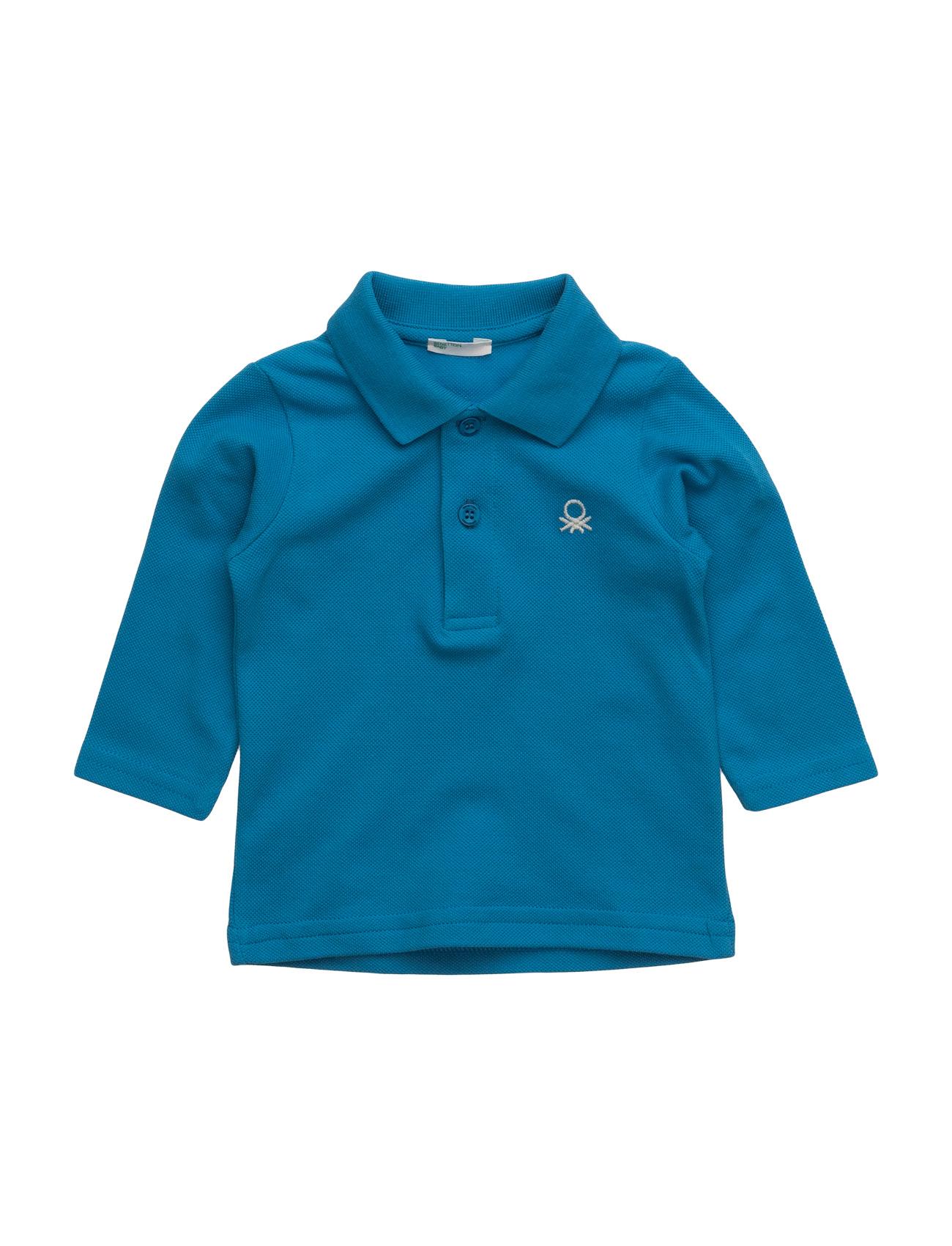 L/S Polo Shirt United Colors of Benetton Langærmede t-shirts til Børn i Blå