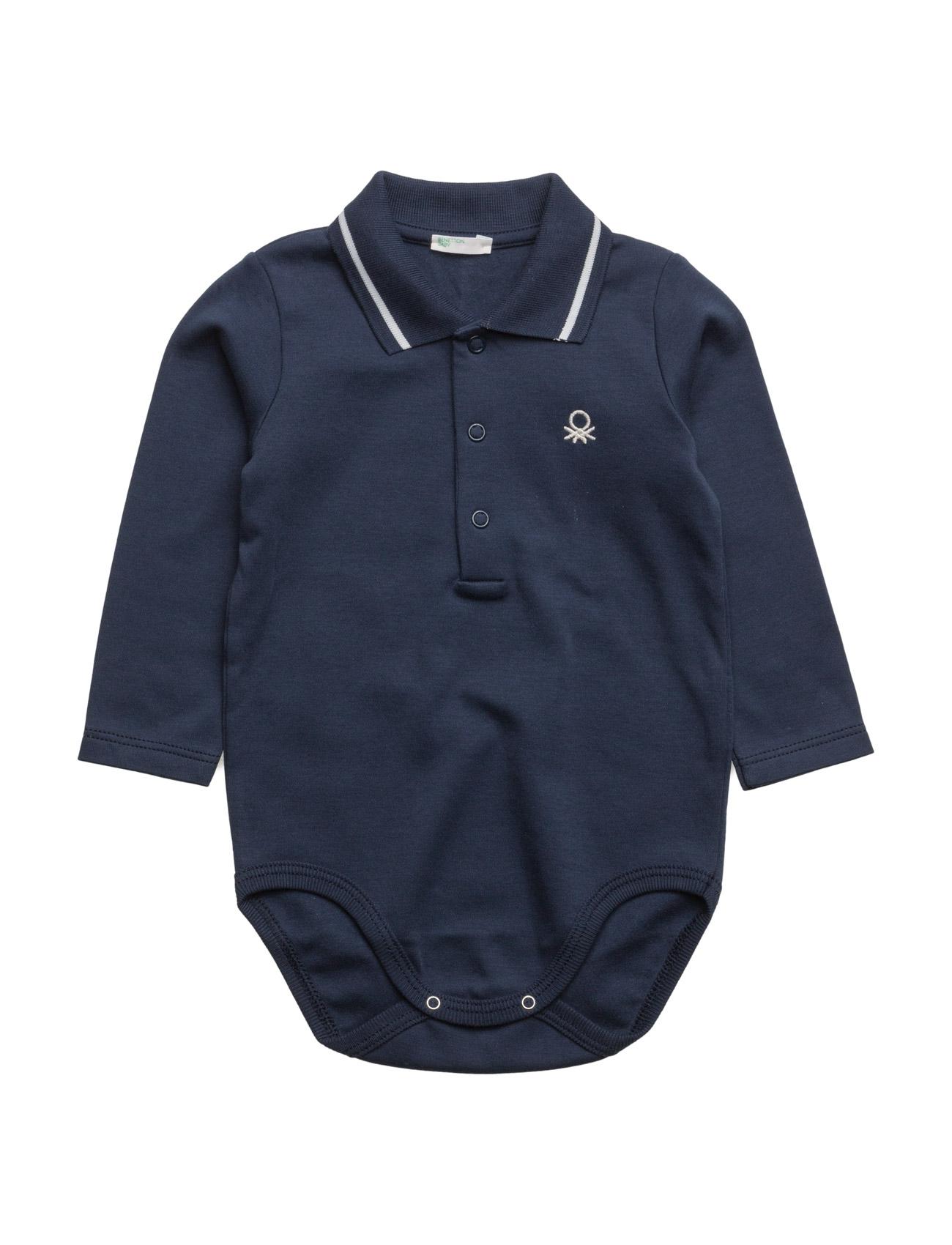 Bodysuit United Colors of Benetton Langærmede bodies til Børn i Navy blå