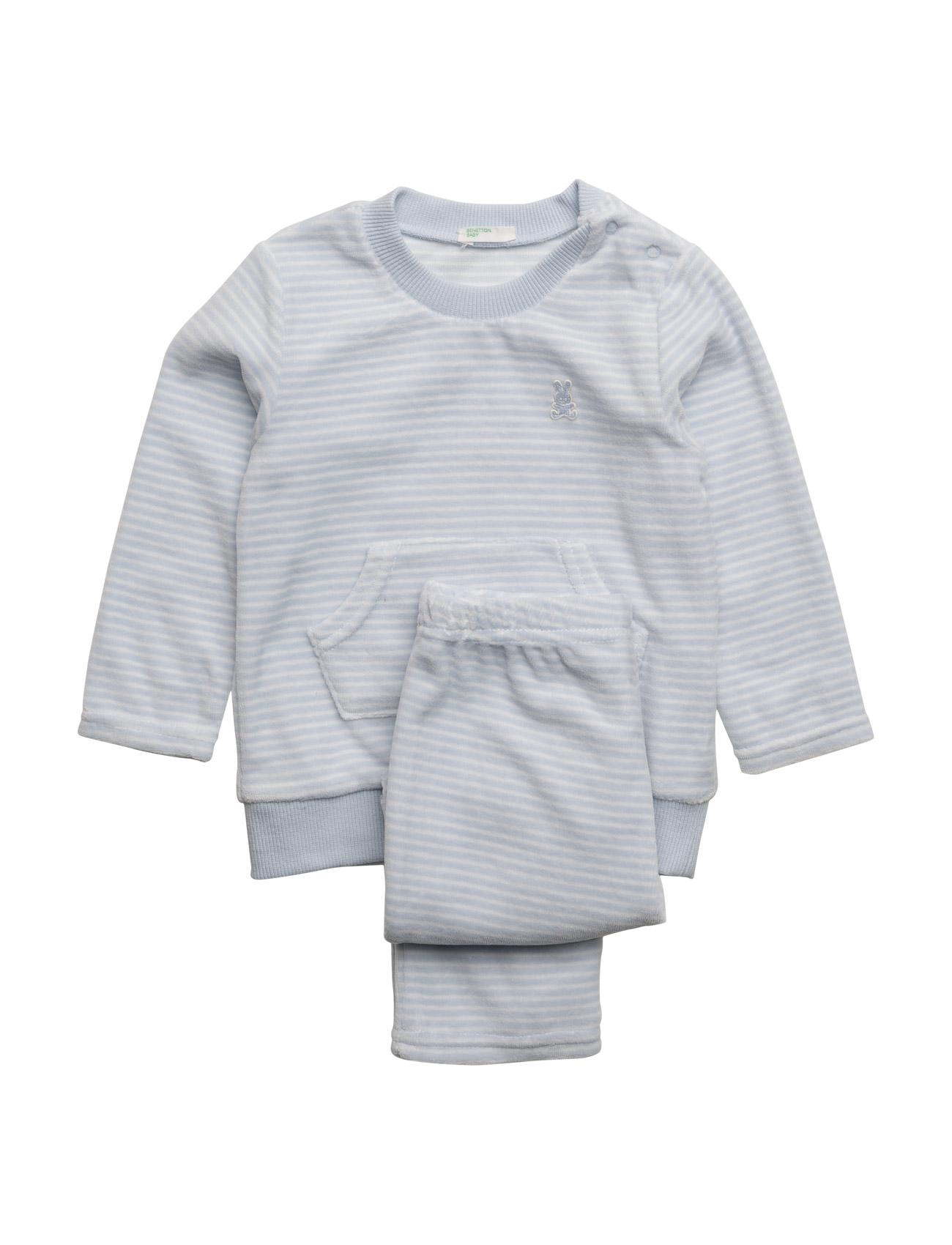 Set Sweater United Colors of Benetton  til Børn i Blå hvid