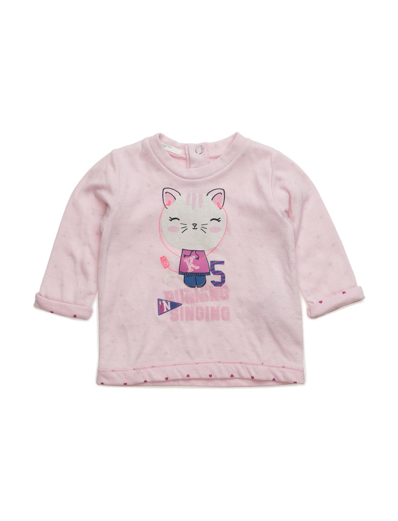Sweater L/S United Colors of Benetton  til Børn i Lyserød