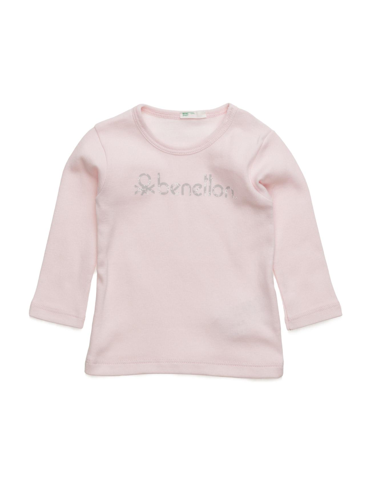 T-Shirt L/S United Colors of Benetton T-shirts til Piger i Pale Pink