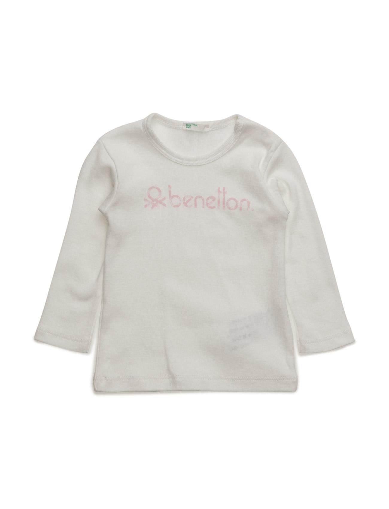 T-Shirt L/S United Colors of Benetton Langærmede t-shirts til Børn i Navy blå