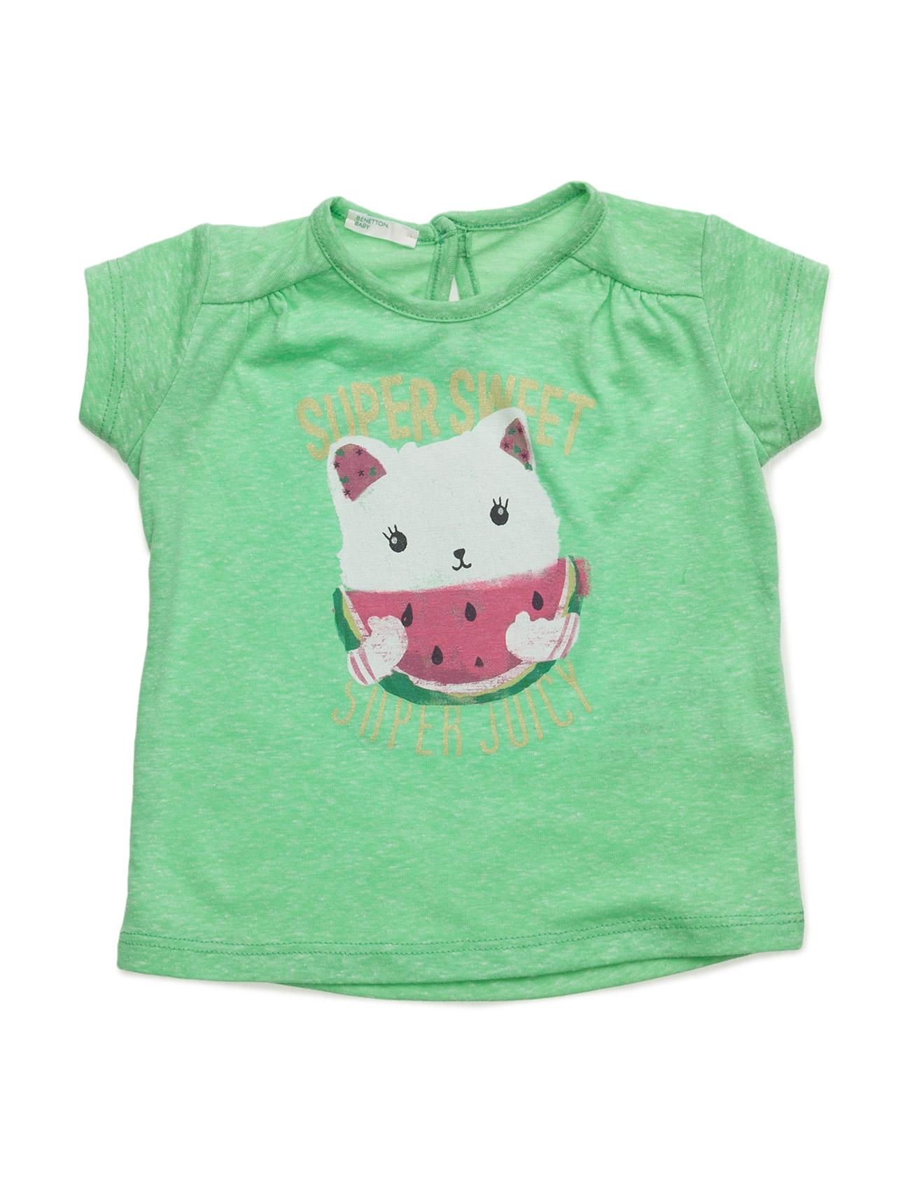 T-Shirt United Colors of Benetton Kortærmede t-shirts til Børn i Grøn