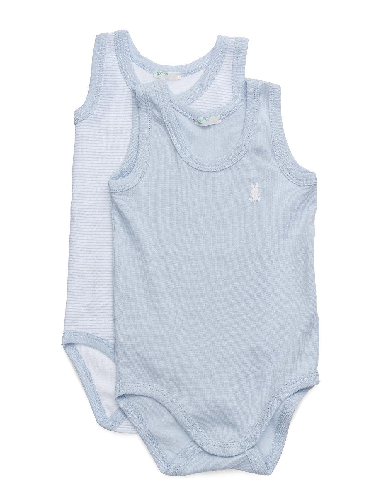 2 Bodysuit United Colors of Benetton Langærmede bodies til Børn i