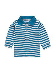 L/S POLO SHIRT - BLUE WHITE