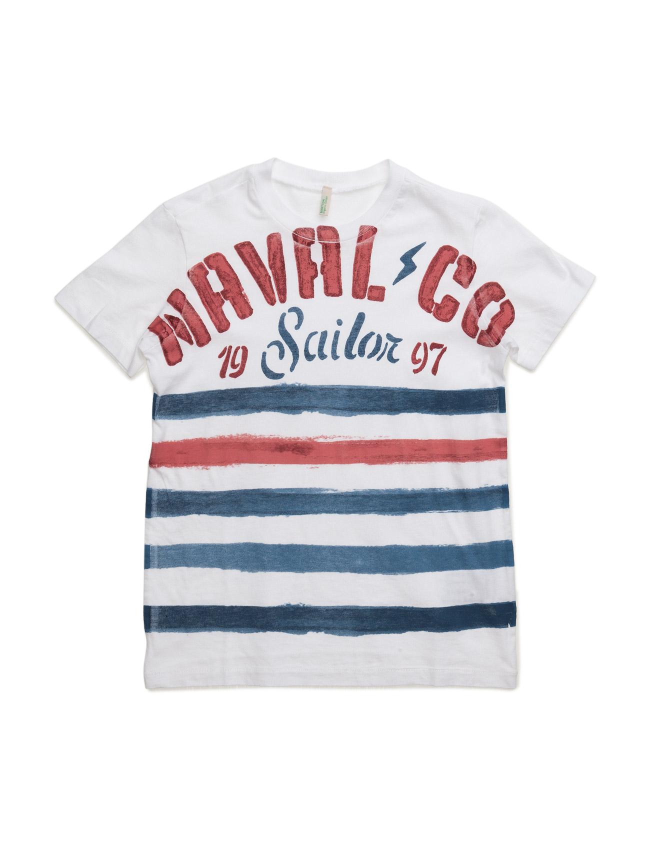 T-Shirt United Colors of Benetton Kortærmede t-shirts til Børn i hvid