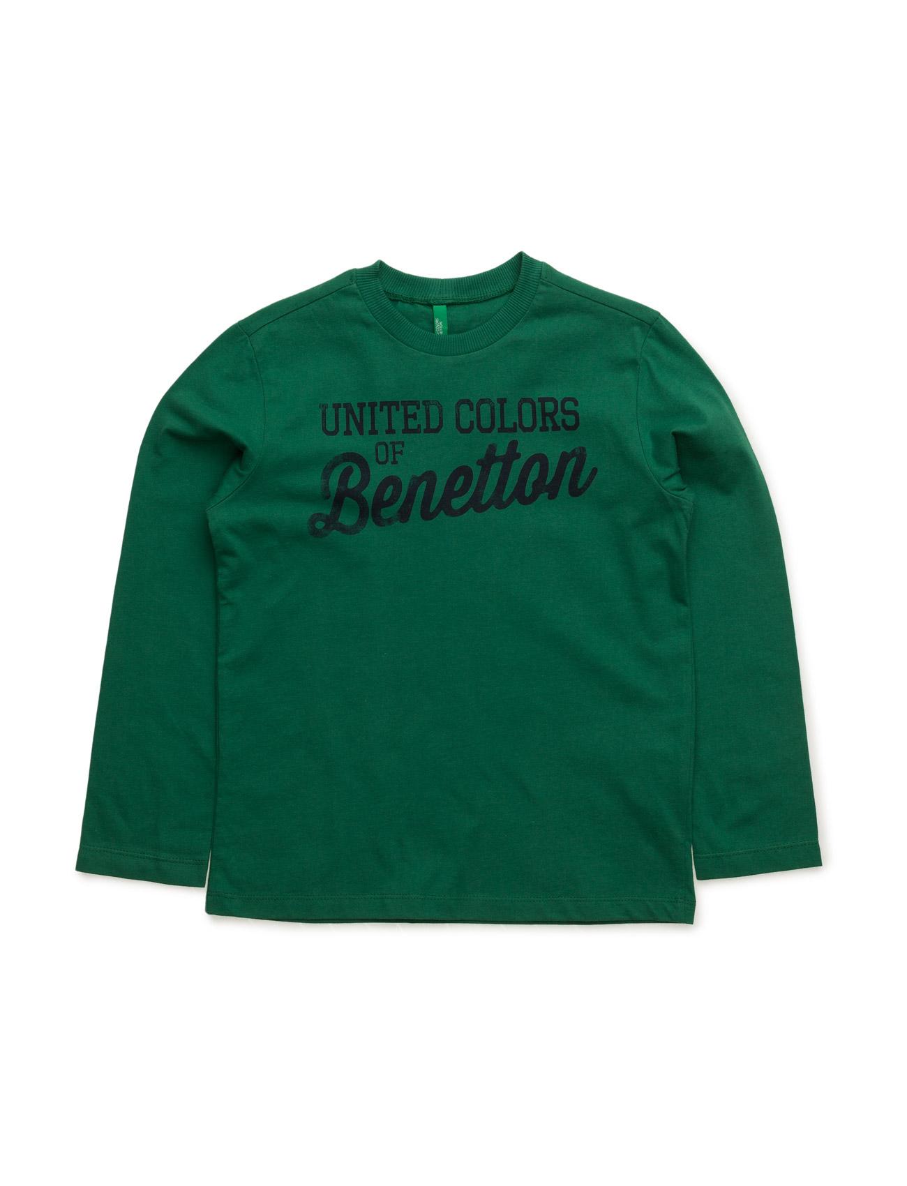 T-Shirt L/S United Colors of Benetton Langærmede t-shirts til Børn i Grøn