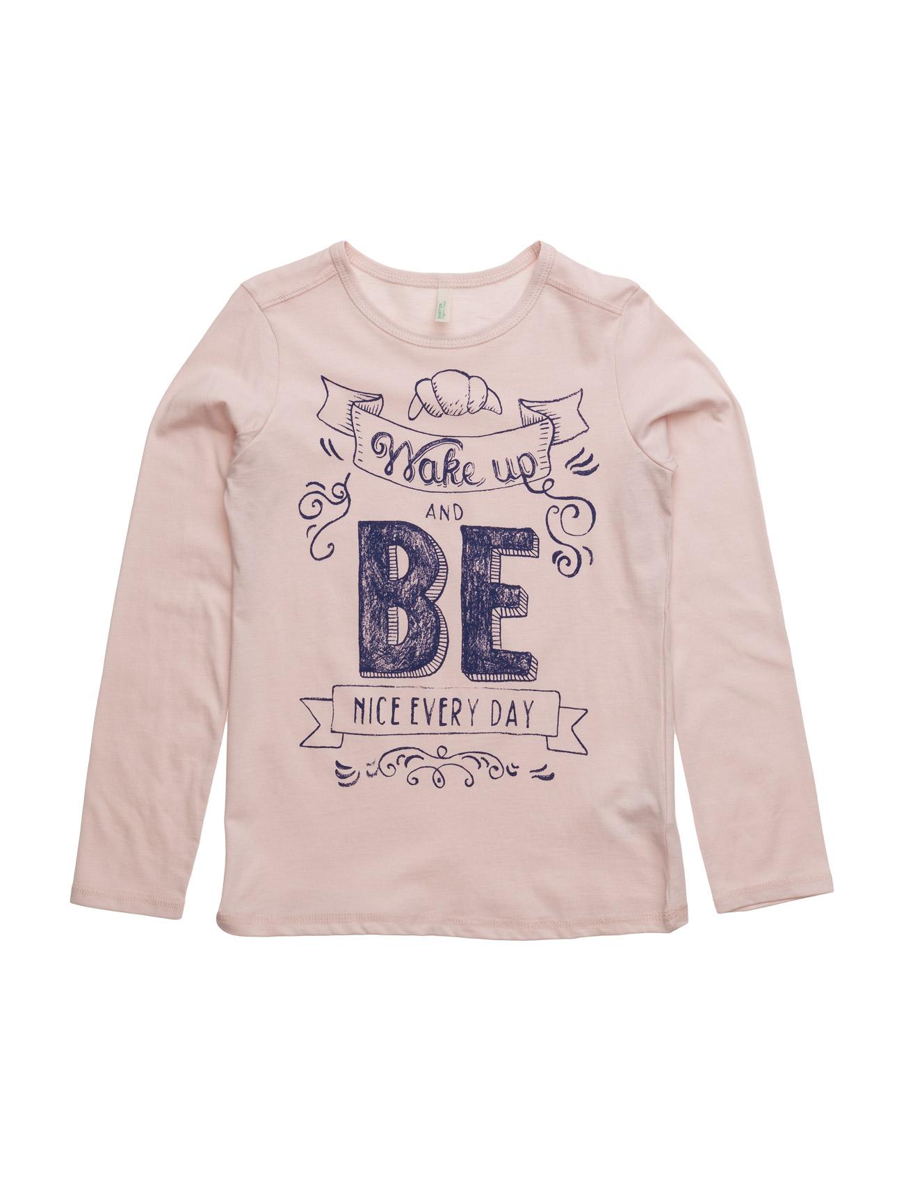 T-Shirt L/S United Colors of Benetton Langærmede t-shirts til Børn i Lyserød
