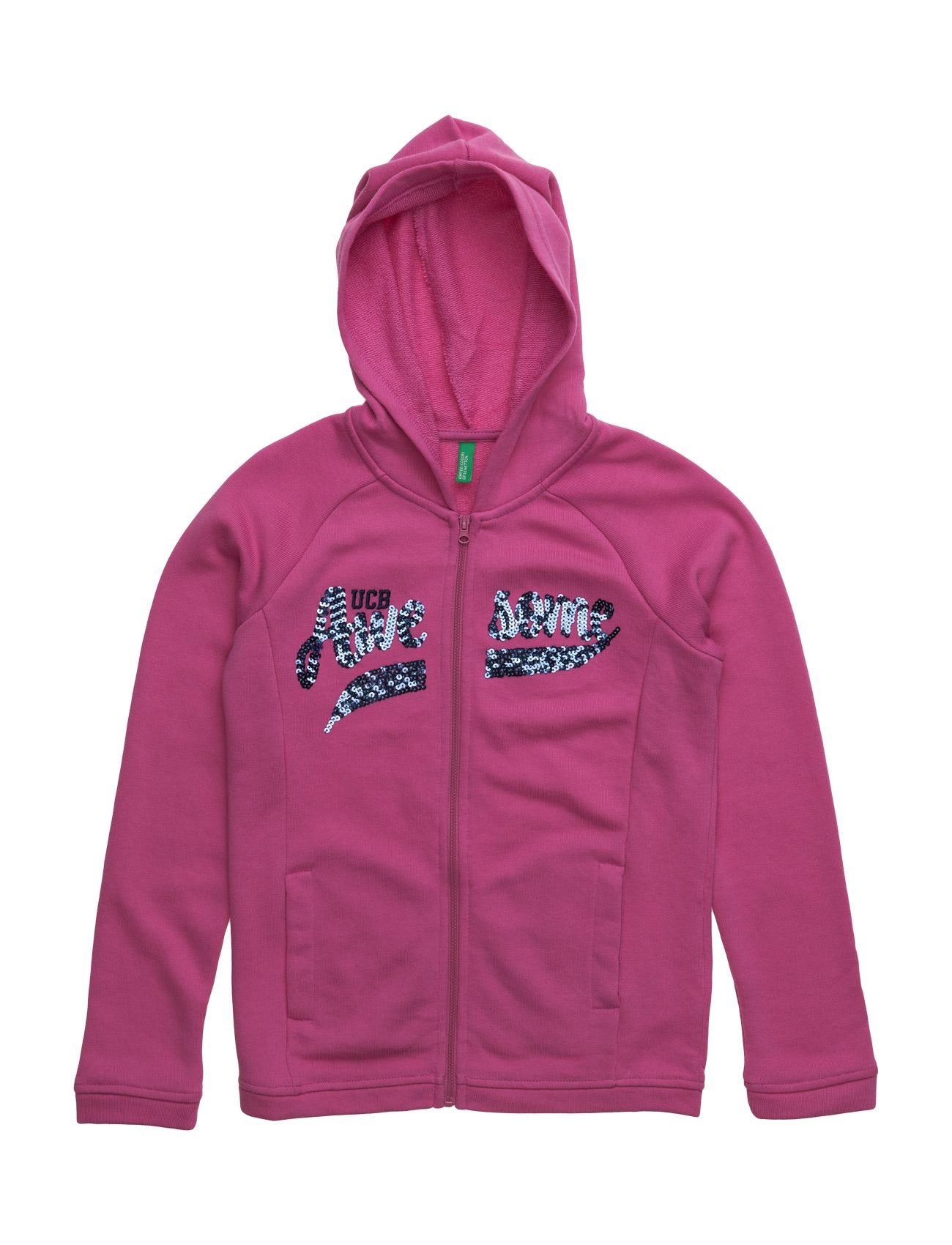 Jacket W/Hood L/S United Colors of Benetton  til Børn i Lyserød