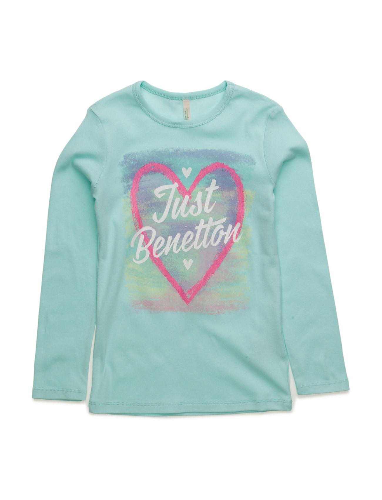 T-Shirt L/S United Colors of Benetton Langærmede t-shirts til Børn i turkis