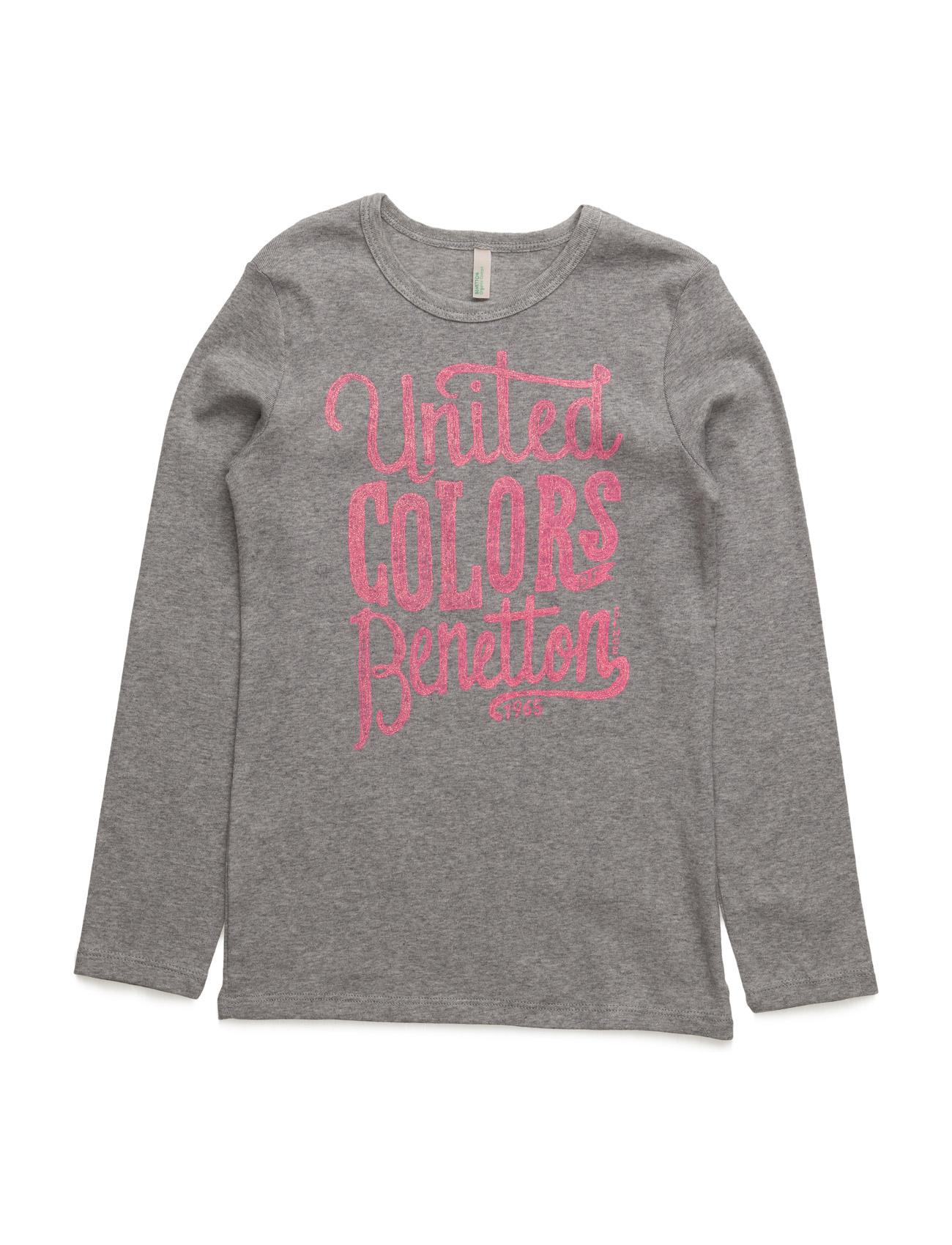 T-Shirt L/S United Colors of Benetton Langærmede t-shirts til Børn i Lilla