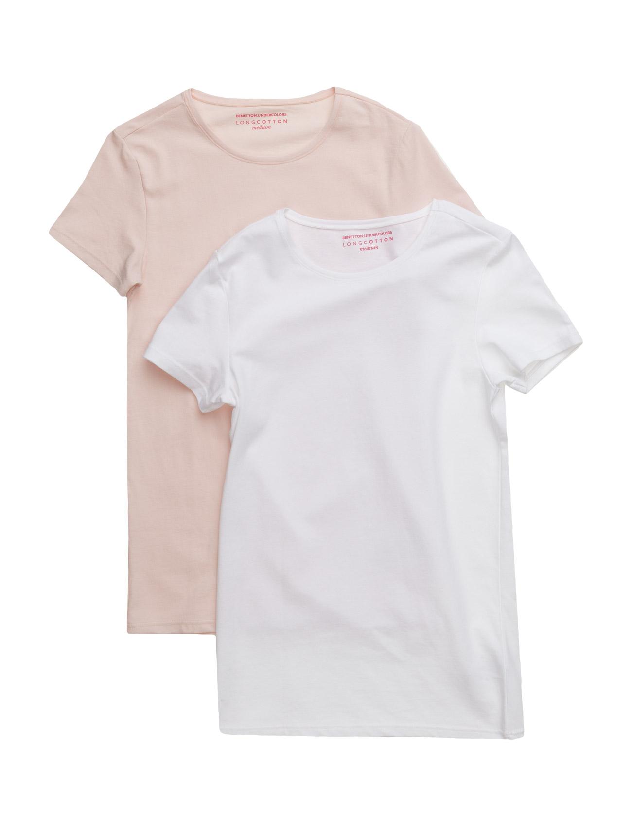 2 T-Shirts United Colors of Benetton Kortærmede t-shirts til Børn i