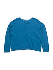 L/S SWEATER - BLUE