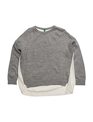 SWEATER L/S - GREY CREAM