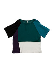 SWEATER H/S - PURPLE GREEN CREAM