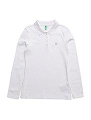 L/S POLO SHIRT - WHITE