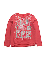 SWEATER L/S - CORAL RED