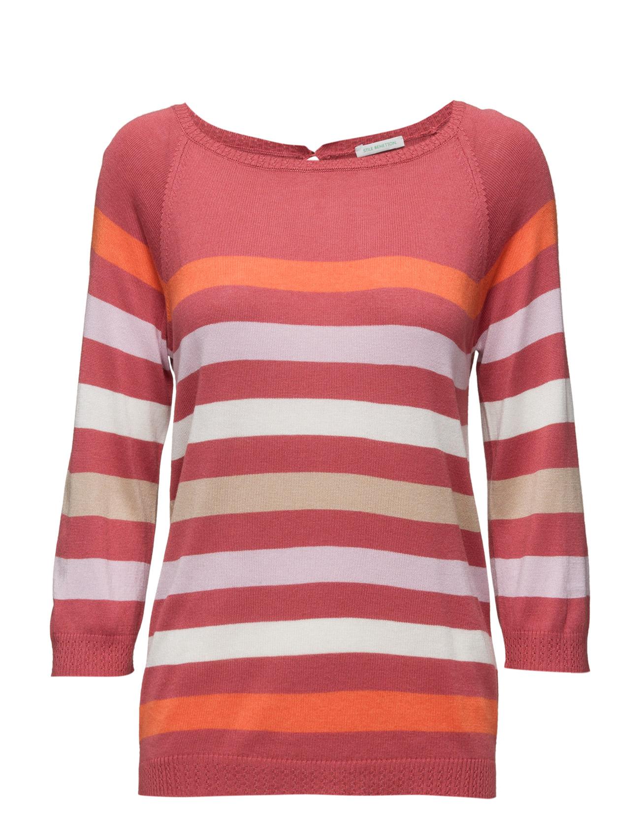 Sweater L/S United Colors of Benetton Sweatshirts til Kvinder i Rød