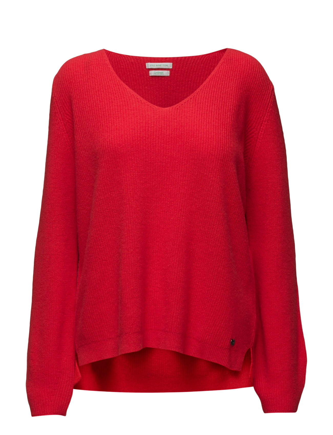 V Neck Sweater L/S United Colors of Benetton Sweatshirts til Damer i 0B6