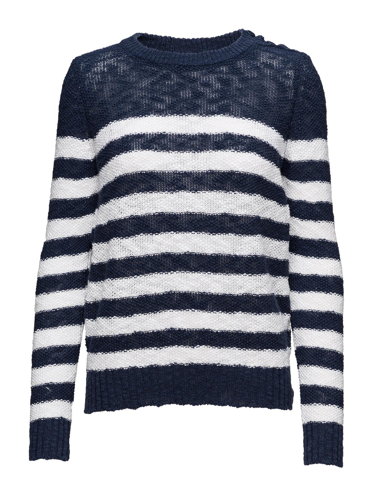 Sweater L/S United Colors of Benetton Sweatshirts til Kvinder i Pink hvid