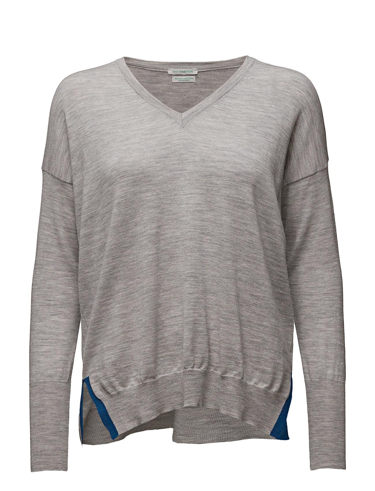 V Neck Sweater L/S United Colors of Benetton Sweatshirts til Damer i