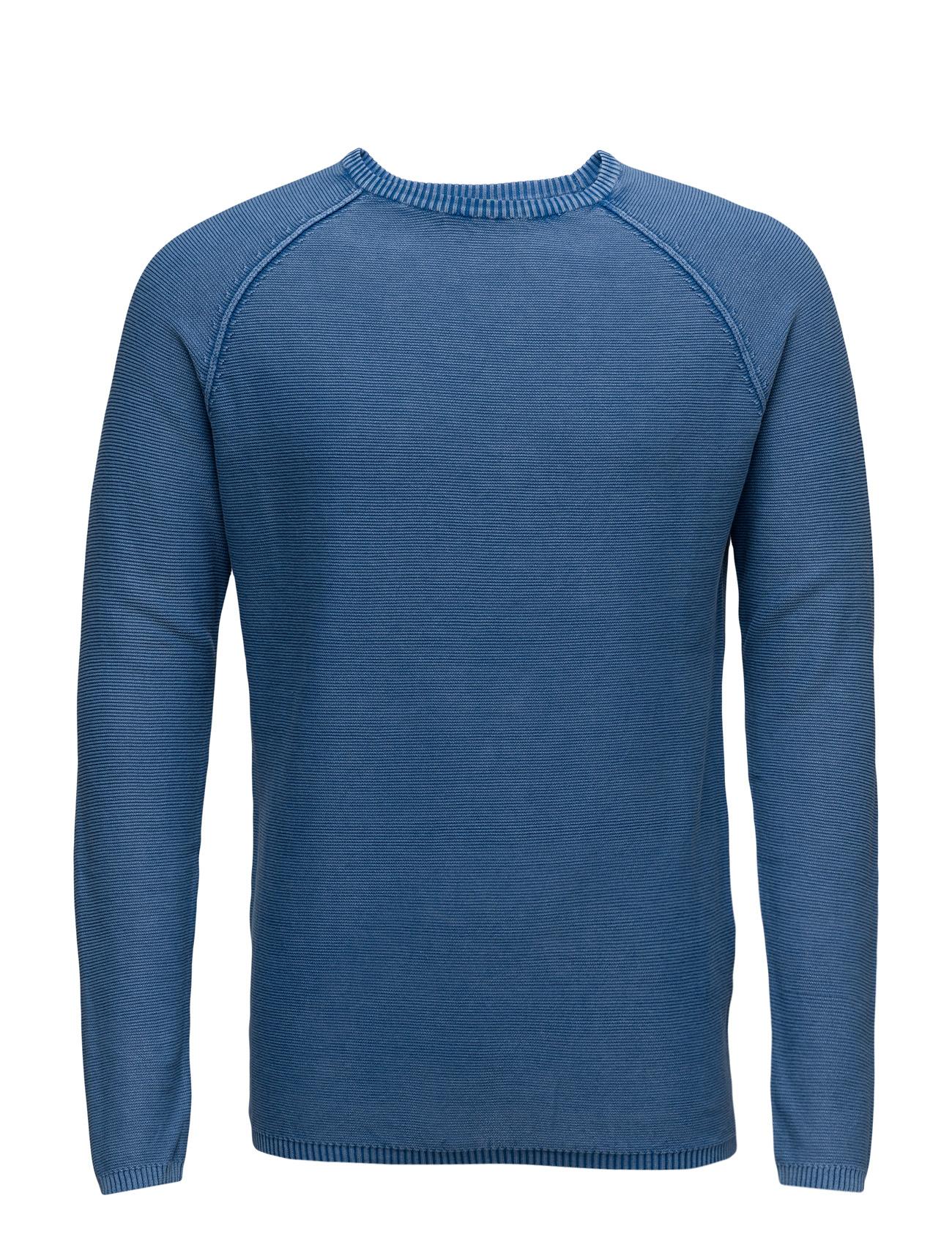 Sweater L/S United Colors of Benetton Rundhalsede til Herrer i Cobalt
