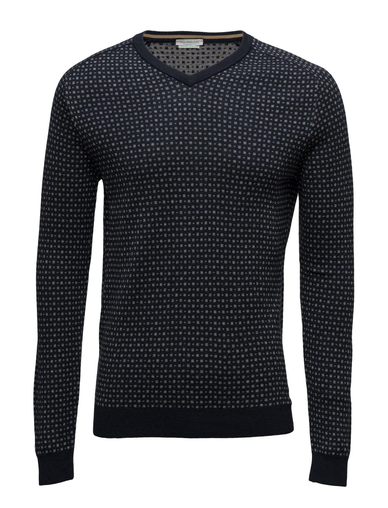 V Neck Sweater L/S United Colors of Benetton V-halsede til Herrer i