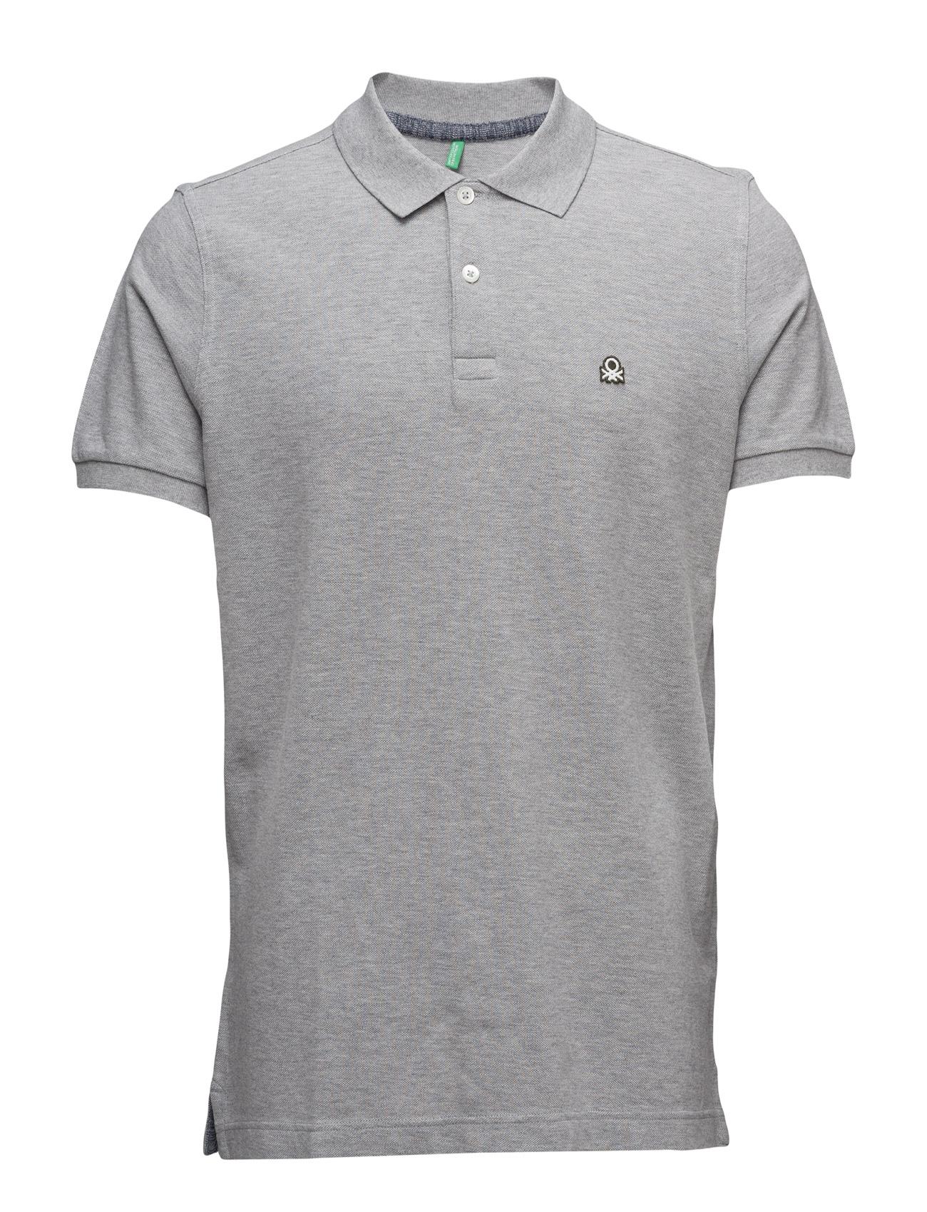Polo Shirt United Colors of Benetton Kortærmede polo t-shirts til Herrer i Grey Melange