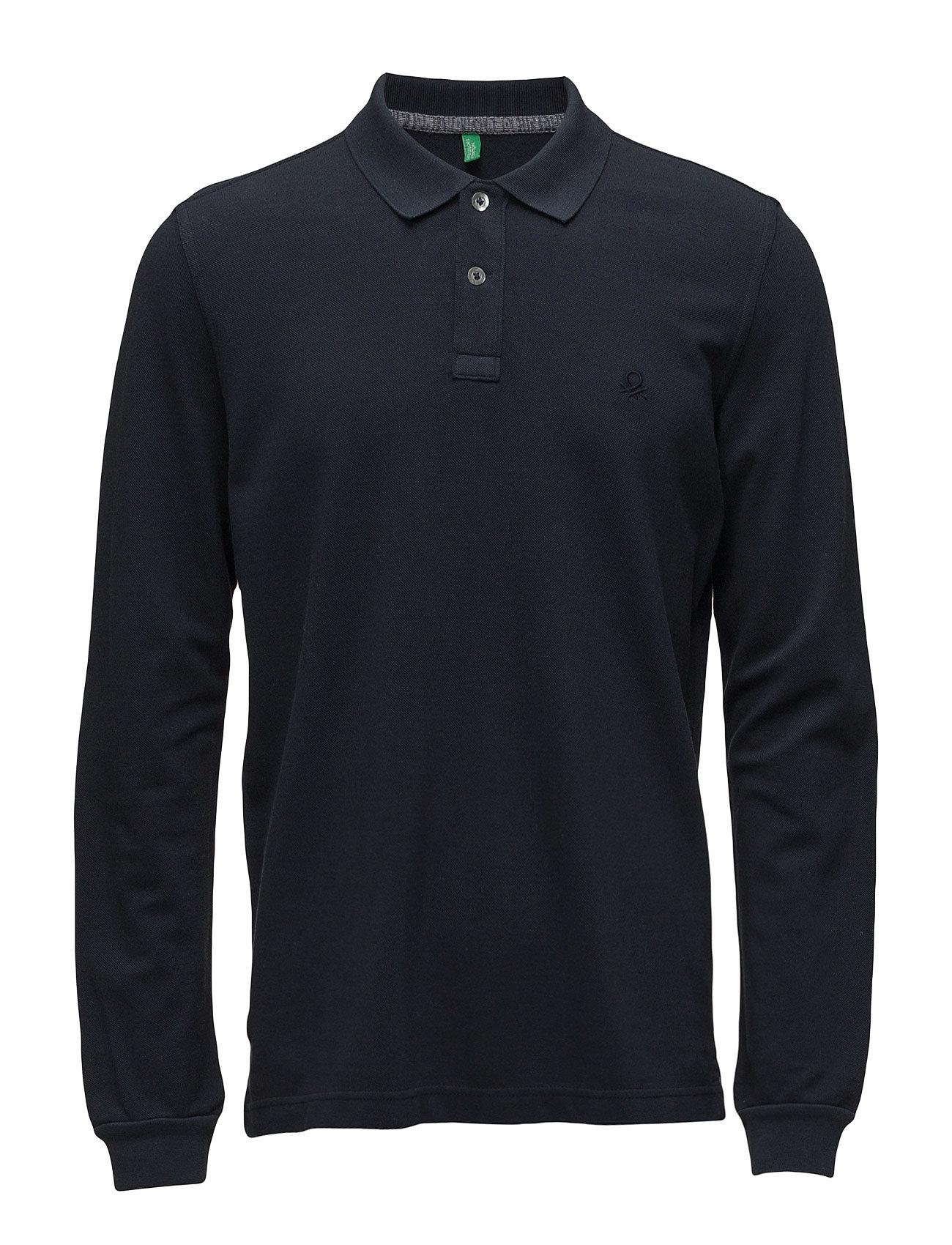 L/S Polo Shirt United Colors of Benetton Længærmede polo t-shirts til Herrer i 06U