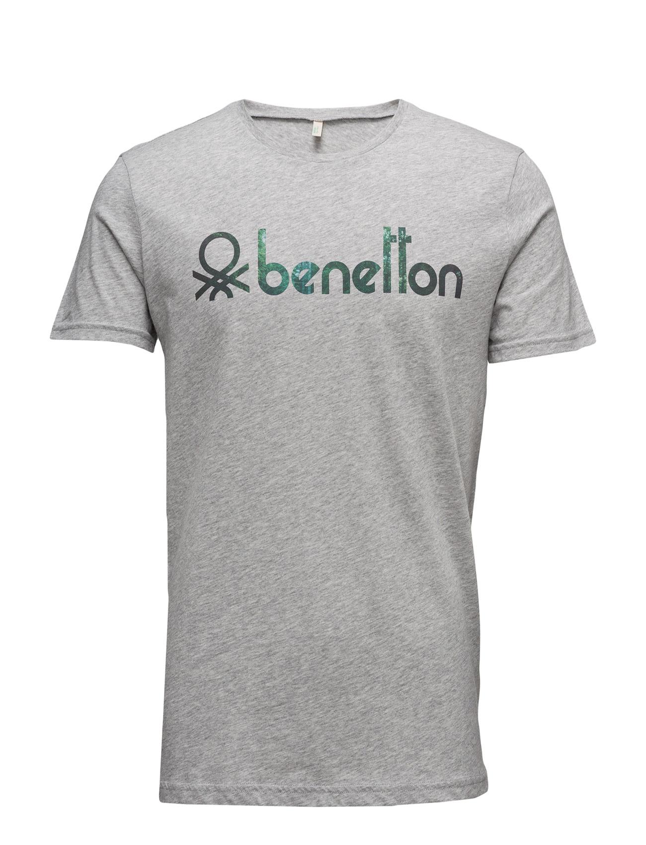 T-Shirt United Colors of Benetton Kortærmede til Mænd i Sort
