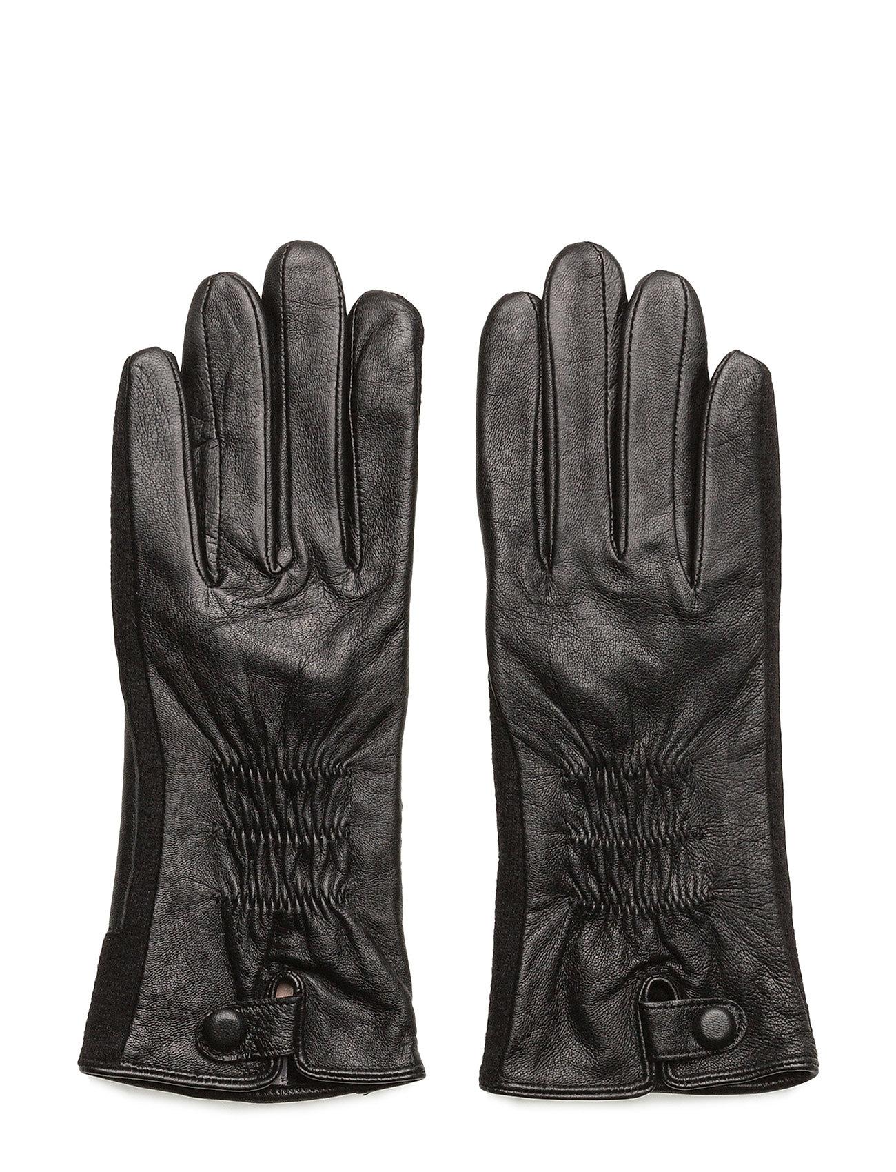 Leather and felt glove fra unmade copenhagen på boozt.com dk