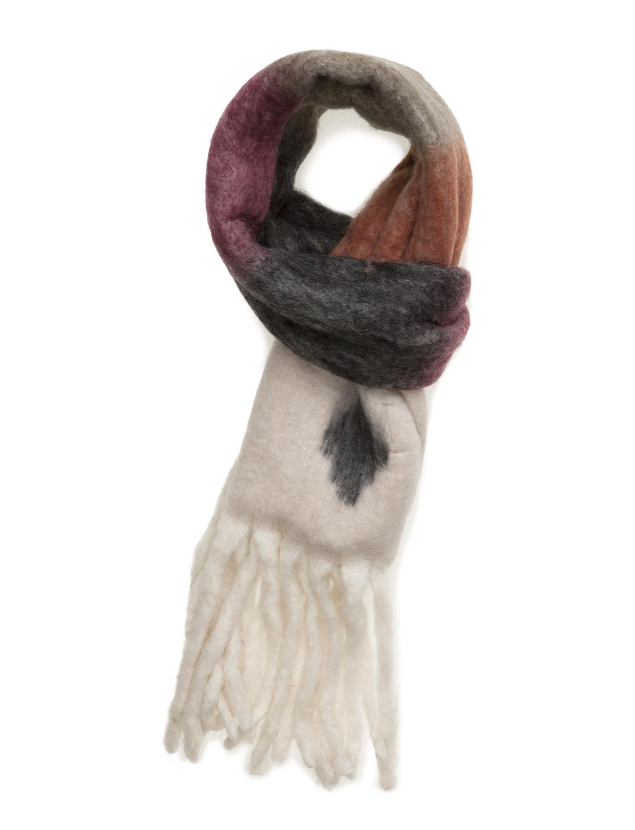 unmade copenhagen Stripe fluffy scarf fra boozt.com dk