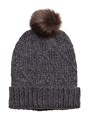 Square knitted hat - NAVY
