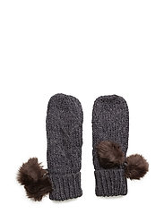 Square knitted mitten - NAVY