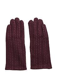 Pintuck stitching glove - AUBERGINE