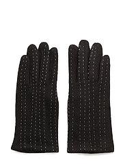 Pintuck stitching glove - BLACK