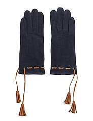 Felt glove w tassel - NAVY