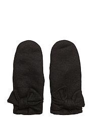 felt mitten with bow - BLACK