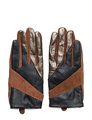 Short glove with cut lines - BROWN