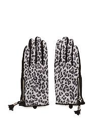 Animal suede glove - BLACK