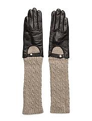 Biker knit glove - BEIGE