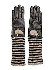 Biker knit glove - BLACK
