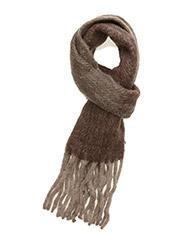 Herringbone fluffy scarf - KHAKI