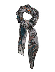 Floral patcwork scarf - GREEN